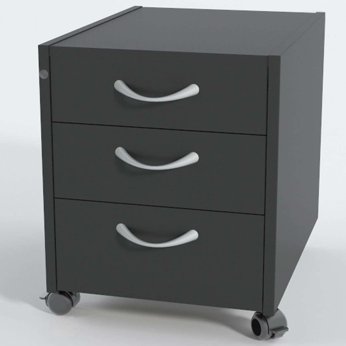 rollcontainer 3 laminat schwarz ergonomie behinderung reha. Black Bedroom Furniture Sets. Home Design Ideas