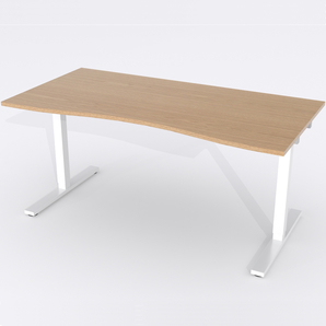 Schreibtisch Ursagad Elektrisch 180x82 Furnier Eiche
