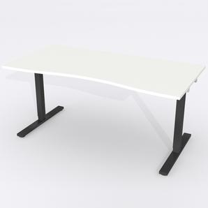 Schreibtisch Ursagad Elektrisch 164x82 cm HP Laminat Weiß
