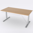 Schreibtisch Rechteck Manuelle 140x80 Furnier Eiche