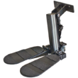 Fußstütze mit gesteilter Fußplatte