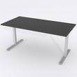 Schreibtisch Rechteck Manuelle 120x80 Laminat Schwarz