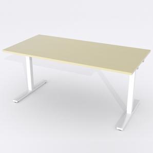 Schreibtisch Rechteck Manuelle 120x80 Furnier Birke
