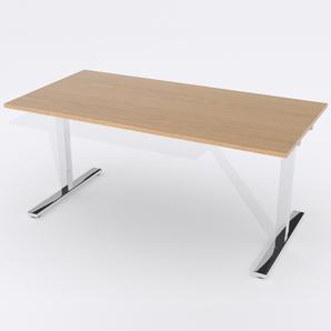 Schreibtisch Rechteck Manuelle 120x80 Furnier Eiche