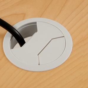 Schreibtisch Rechteck Elektrisch 180x80 cm HP Laminat Weiß
