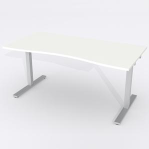 Schreibtisch Ursagad Elektrisch 164x82 Laminat Weiß