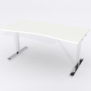 Schreibtisch Ursagad Manuelle 180x82 Laminat Weiß