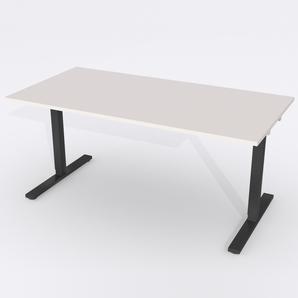 Schreibtisch Rechteck Elektrisch 180x80 Laminat Hellgrau