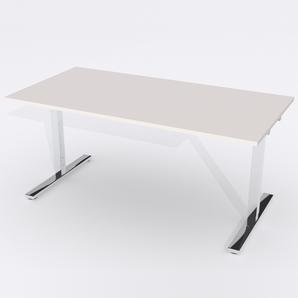 Schreibtisch Rechteck Elektrisch 140x80 Laminat Hellgrau