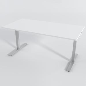 Schreibtisch Rechteck Elektrisch 140x80 Laminat Weiß